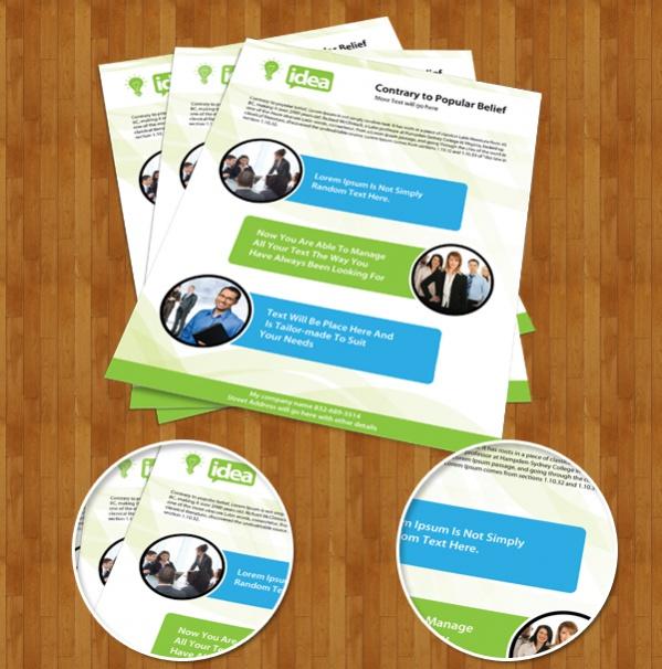 Free Corporate Leaflet Brochure Design