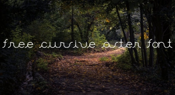 Free Cursive Aster Font