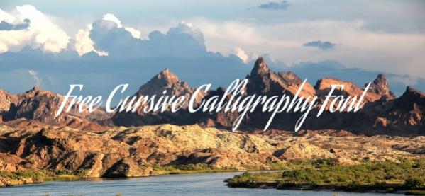 Free Cursive Calligraphy Font