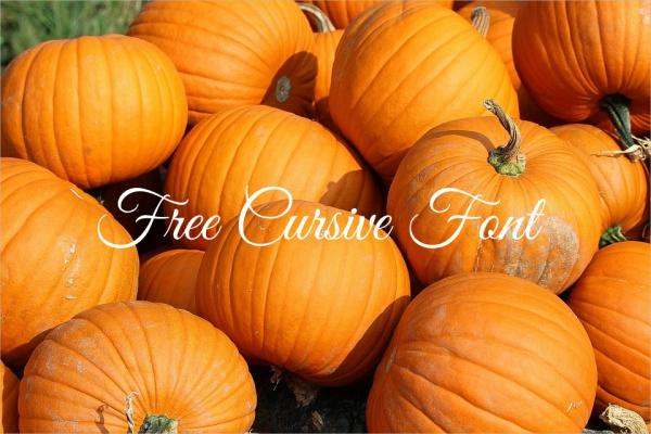 Free Cursive Font