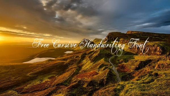 Free Cursive Handwriting Font