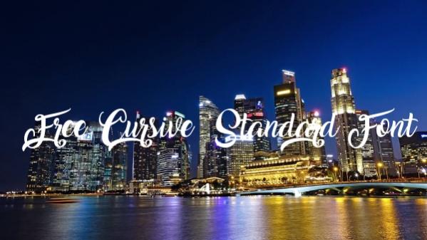 Free Cursive Standard Font