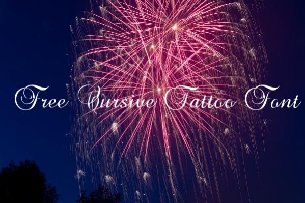 Free Cursive Tattoo Font
