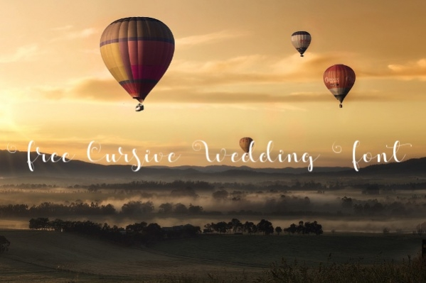 Free Cursive Wedding Font