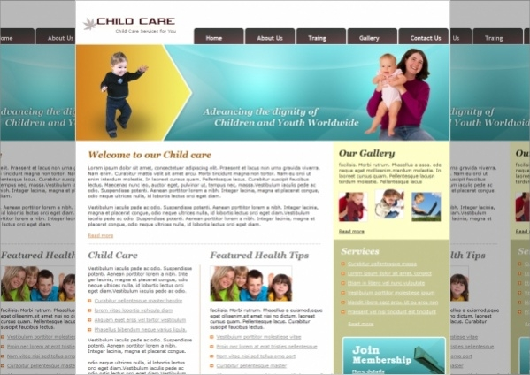 Free Daycare Website Template