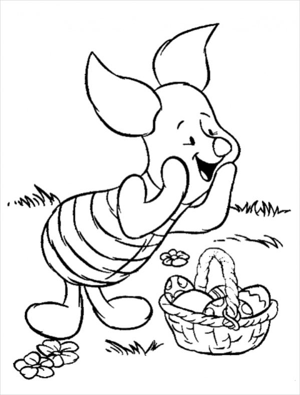 Free Disney Easter Coloring Page