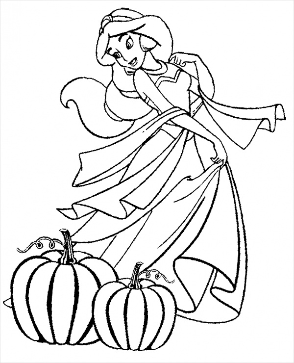 Disney Halloween printable coloring pages | 740x600