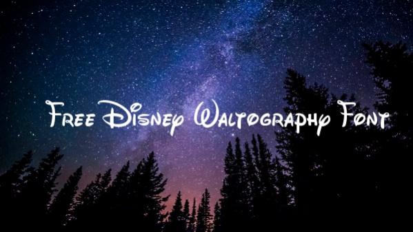 Free Disney Waltography Font