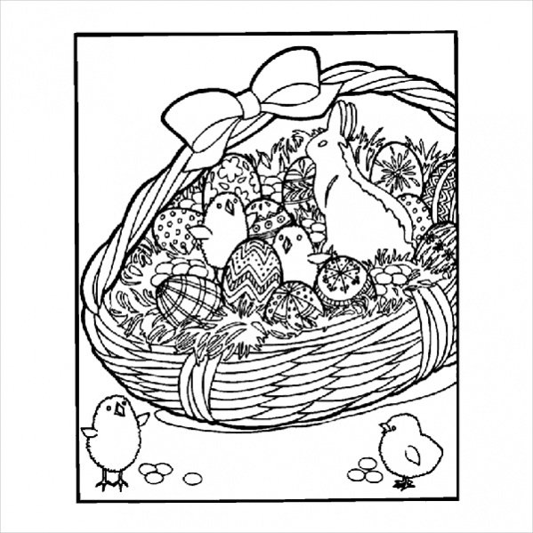 Free Easter Basket Coloring Page