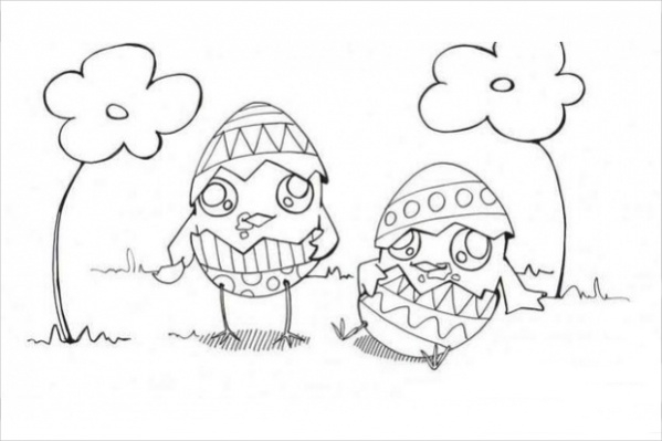 Free Easter Chick Coloring Page