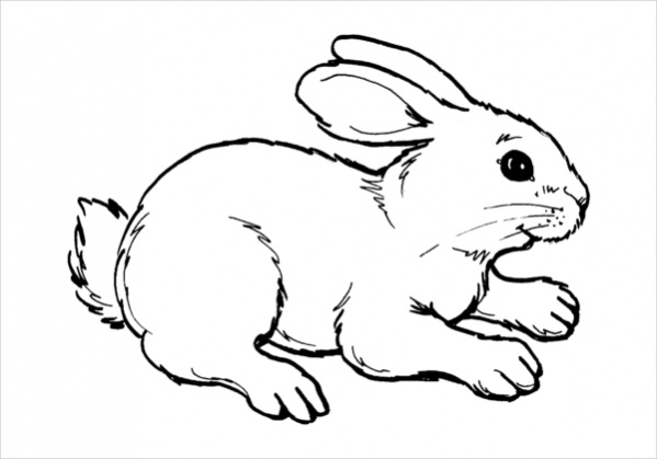 Free Easter Rabbit Coloring Page