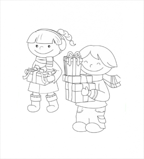 Free Easy Christmas Coloring Page