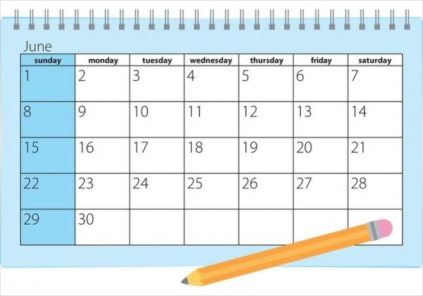 free editable monthly calendar