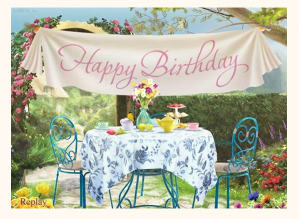 Free Electronic Garden Party Birthday Card