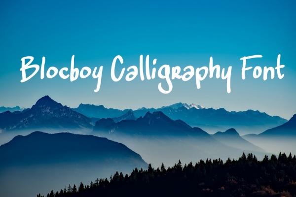 Free Elegant Blocboy Calligraphy Font