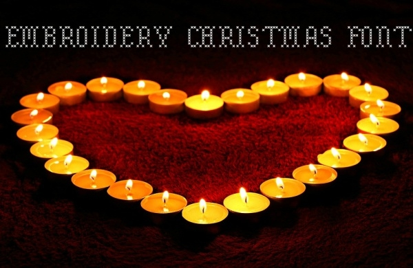 Embroidery Christmas Font