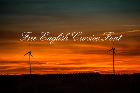 Free English Cursive Font
