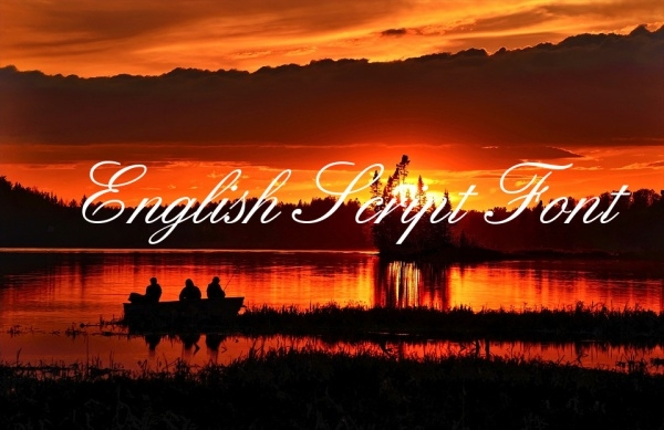 Free English Script Font