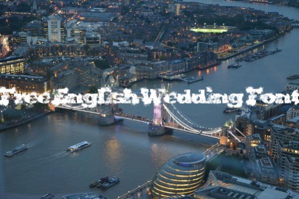 Free English Wedding Font