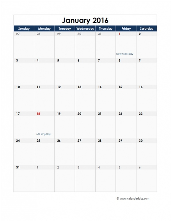Free Monthly Calendars  Psd Vector Eps  Excel Download
