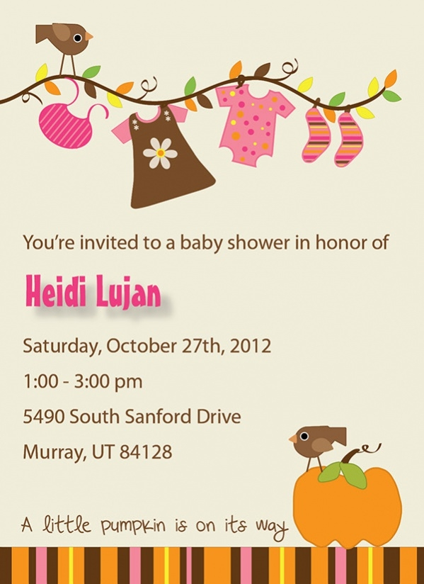 Free Fall Baby Shower Printable