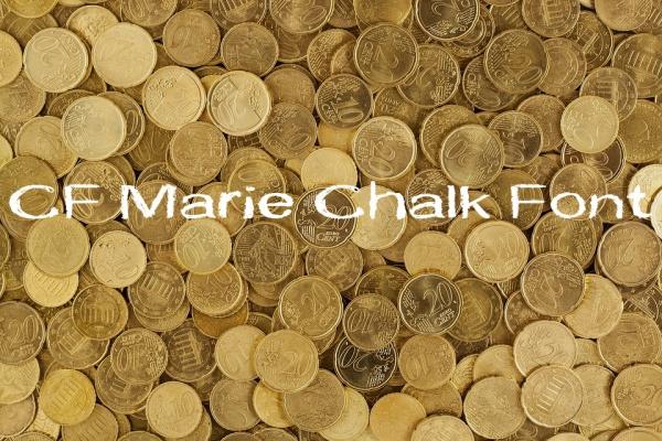 Free Fancy CF Marie Chalkboard Font