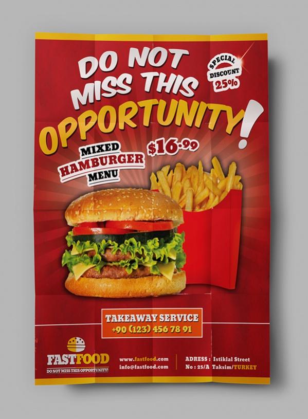 Free Fast Food Flyer Design
