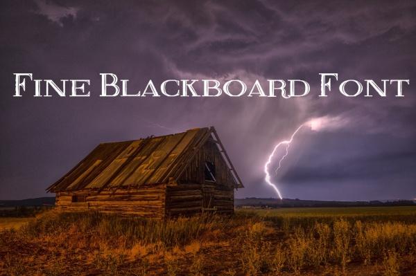 Free Fine Blackboard Font