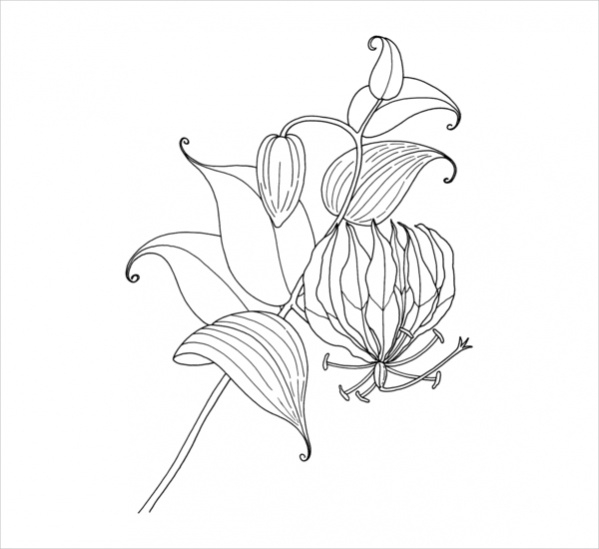 free-flower-coloring-page