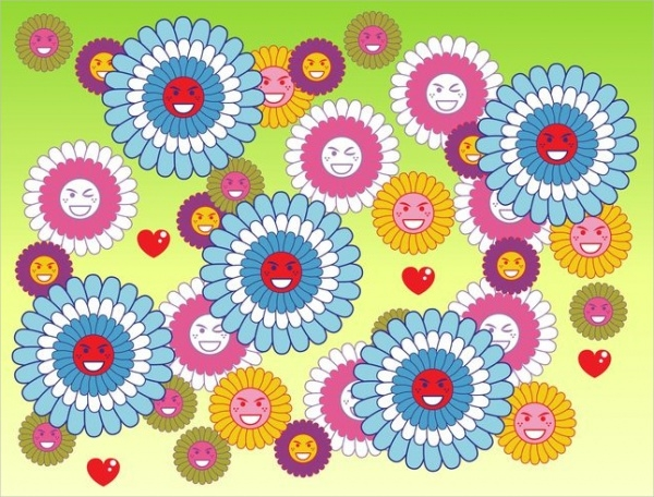 Free Flower Smileys
