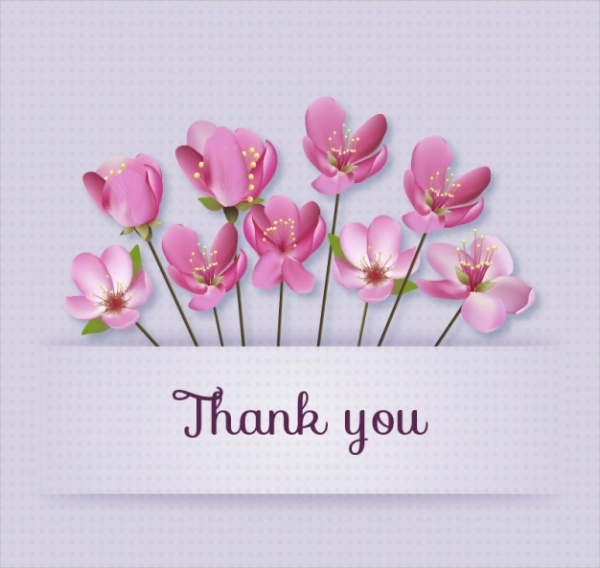 free-flowersthank-you-card-vector