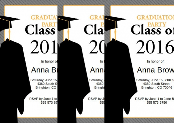 free formal graduation invitation