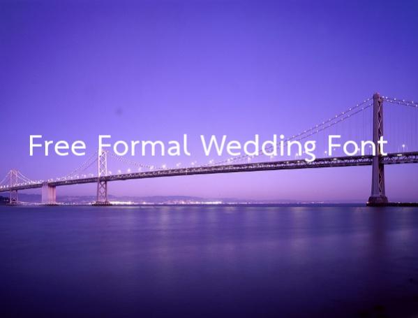 Free Formal Wedding Font