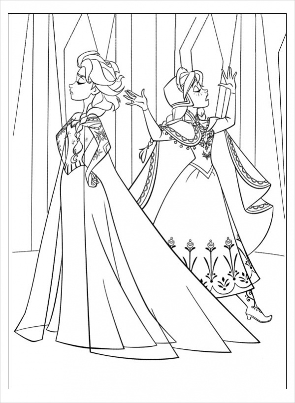 Free Frozen Coloring Page for Adults