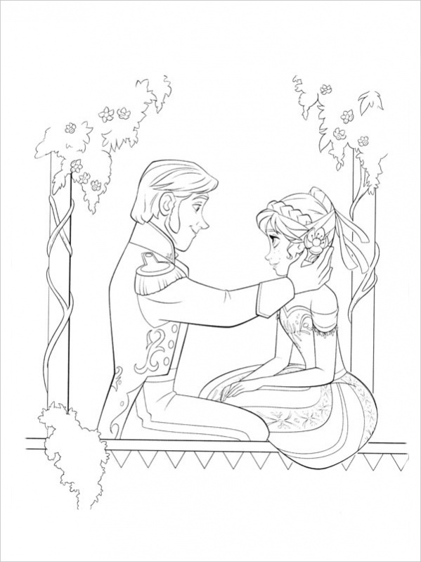 Free Frozen Valentine Coloring Page