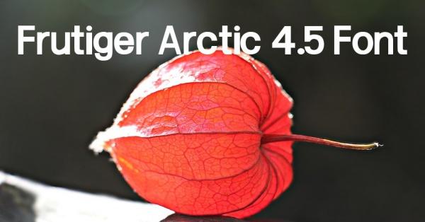 Free Frutiger Arctic 4.5 Font