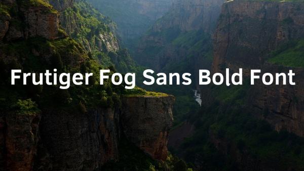 Free Frutiger Fog Sans Bold Font