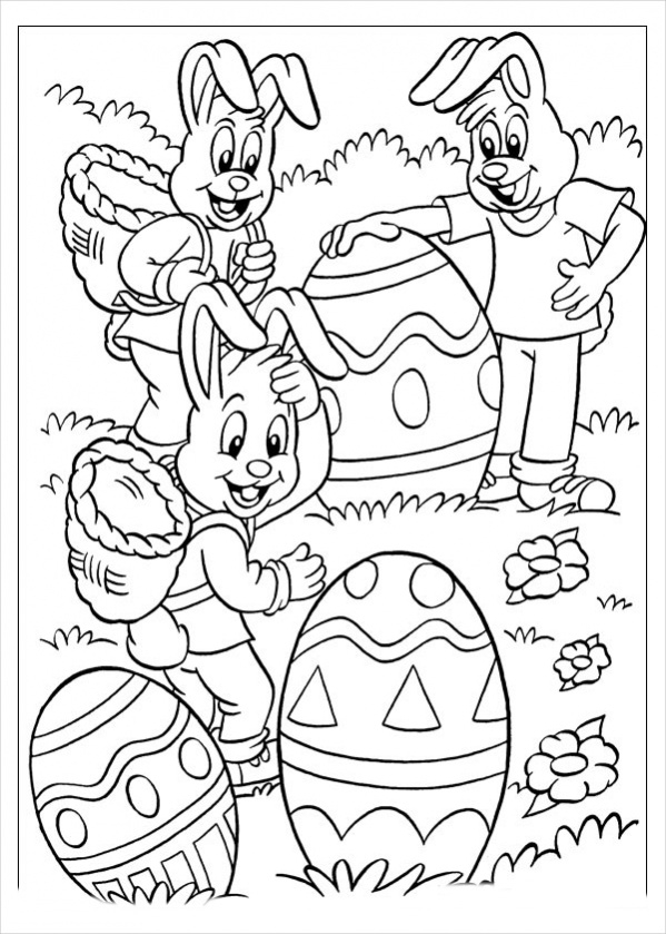Free Funny Easter Coloring Page