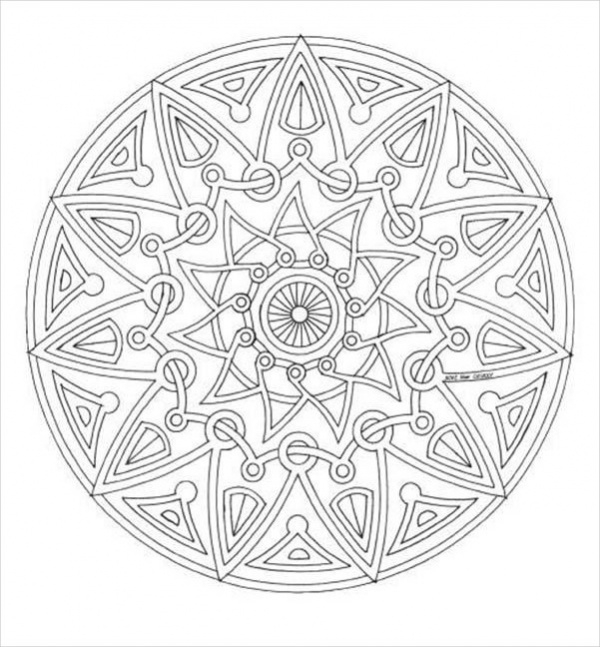 15 Free Mandala Coloring Pages Jpg Ai Illustrator Download