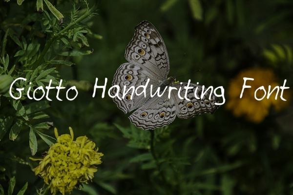 Free Giotto Handwriting Font