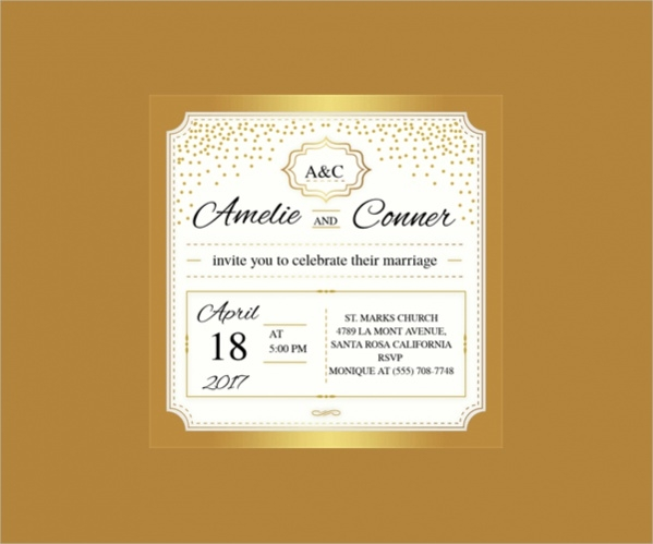 Free Gold Elegant Wedding Printables