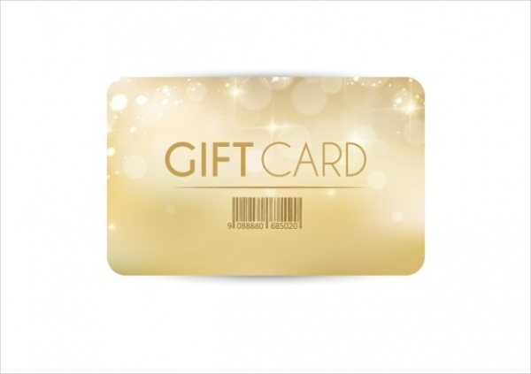 Free Golden Gift Card Design
