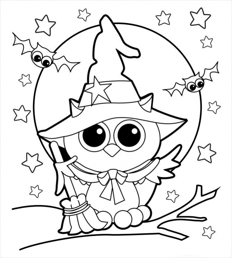 Free Halloween Owl Coloring Page