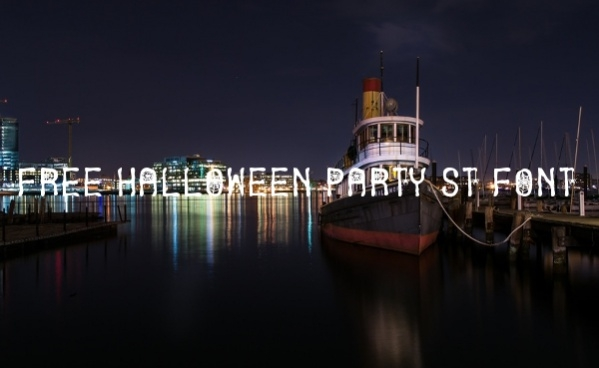 free halloween party st font font1