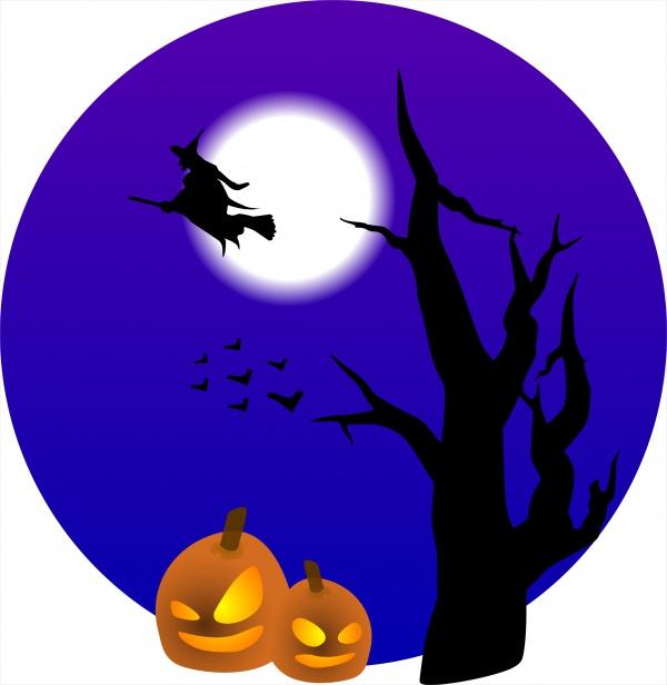 Free Halloween Scene Clipart