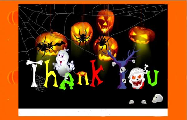 Free Halloween Thank You Ecard