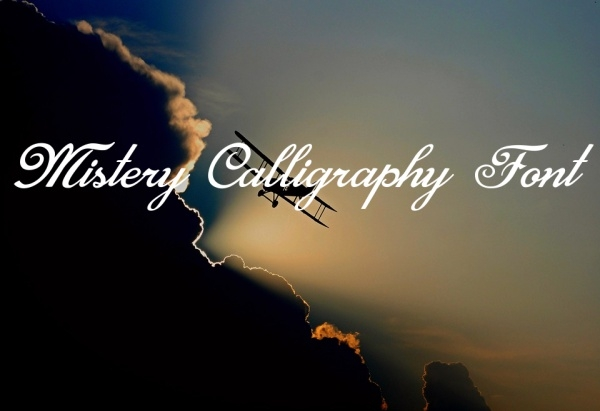 Free Handwritten Mistery Calligraphy Font