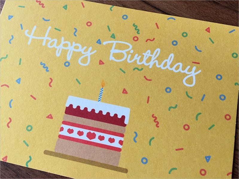 Free Happy Birthday Coloring Card