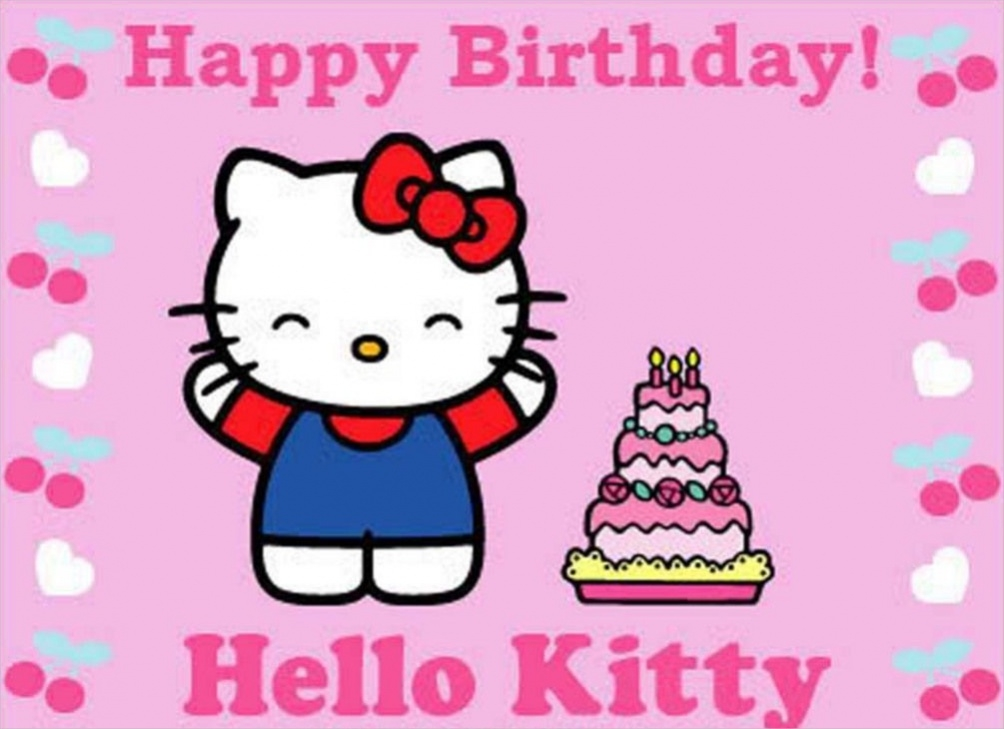 Free Hello Kitty Birthday Image