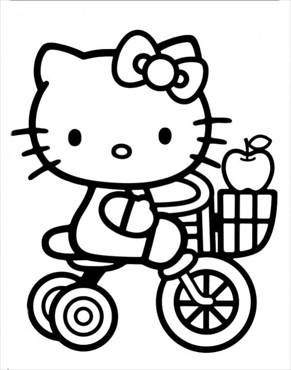 Free Hello Kitty Easter Coloring Page